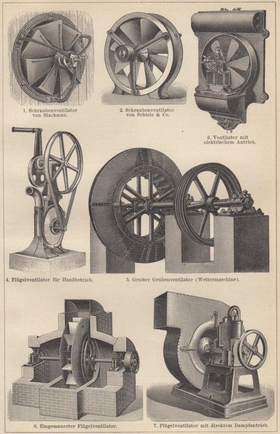 Старые механические варианты вентиляции