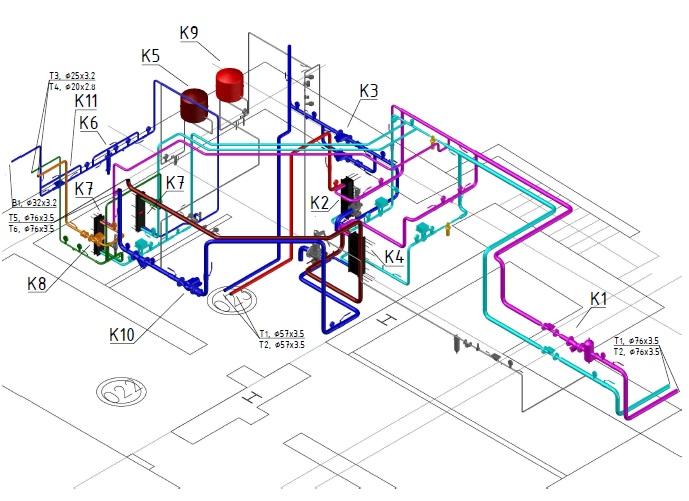 проектирование внутренних инженерных сетей и систем