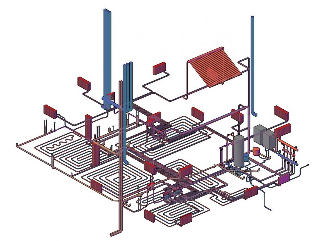 Монтаж систем отопления и вентиляции (ОВ)